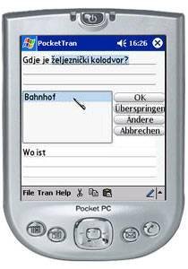 PocketTran Kroatisch in Deutsch übersetzung 2