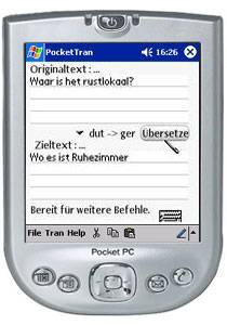 PocketTran Niederländisch in Deutsch übersetzung