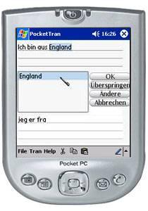 PocketTran Deutsch in Norwegisch übersetzung 4