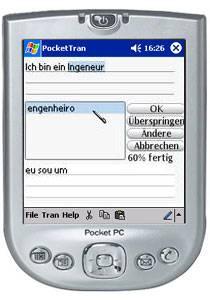 PocketTran Deutsch in Portugiesisch übersetzung 2