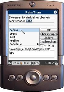 PalmTran Deutsch in Slowenisch übersetzung 4