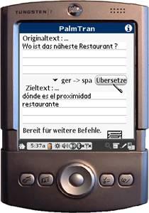 PalmTran Deutsch in Spanisch übersetzung 4