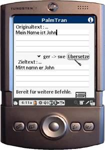PalmTran Deutsch in Schwedisch übersetzung 3