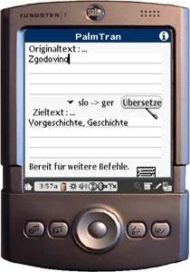 PalmTran Slowenisch in Deutsch übersetzung