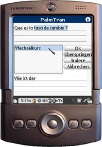 PalmTran Spanisch in Deutsch übersetzung